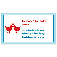 Save the Date Magnets - Lovebirds