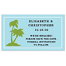 Save the Date Magnets - Palm Trees (Blue)