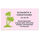 Save the Date Magnets - Palm Trees (Pink)
