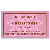 Save the Date Magnets - Regal (Pink)