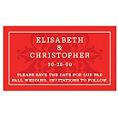 Save the Date Magnets - Regal (Red)