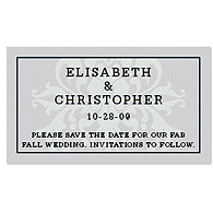 Save the Date Magnets - Regal (Silver)