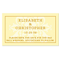 Save the Date Magnets - Regal (Yellow)