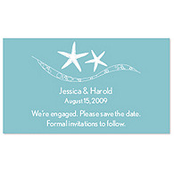 Save the Date Magnets - Starfish (Blue)