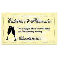 Save the Date Magnets - Toasting Flutes (Yellow)