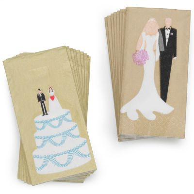 Bride and Groom Tissue Packets