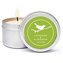 Personalized Soy Candle Favors - Bird (Grass)