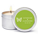 Personalized Soy Candle Favors - Butterfly