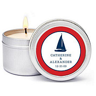 Personalized Soy Candle Favors - Sailboat