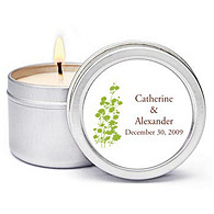 Personalized Soy Candle Favors - Foliage (Grass)