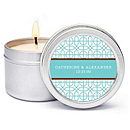 Personalized Soy Candle Favors - Modern (Blue)