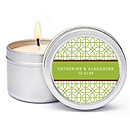 Personalized Soy Candle Favors - Modern (Green)