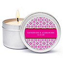 Personalized Soy Candle Favors - Modern (Pink)
