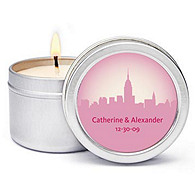 Personalized Soy Candle Favors - New York, New York