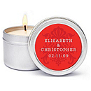 Personalized Soy Candle Favors - Regal (Red)