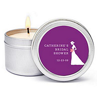 Personalized Soy Candle Favors - Bride (Shower)