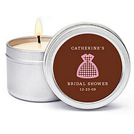 Personalized Soy Candle Favors - Dress (Shower)