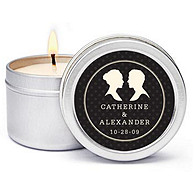 Personalized Soy Candle Favors - Silhouettes