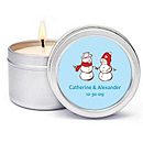 Personalized Soy Candle Favors - Snow Love