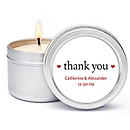 Personalized Soy Candle Favors - Thank You