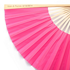 Personalized Silk Fan