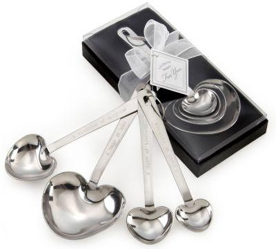 """Love Beyond Measure""  Heart Measuring Spoon Favors"
