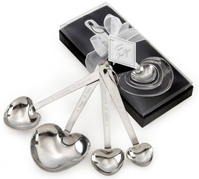 """Love Beyond Measure""  Heart Measuring Spoon Favors"