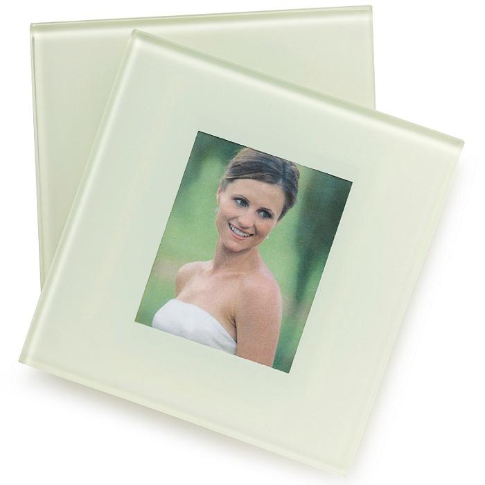 Photo Glass Coaster Favor Set