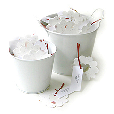 bucket of love seed favors