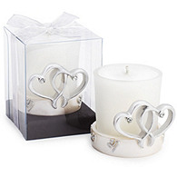 Double Heart Candle Favor