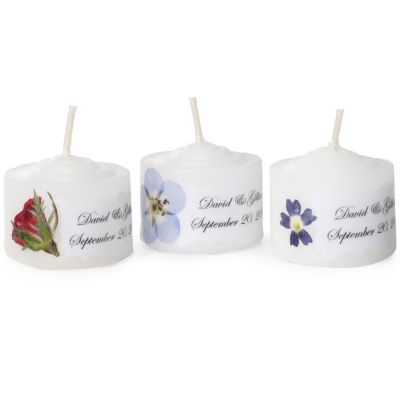 Personalized Mini Candle Favor - Floral