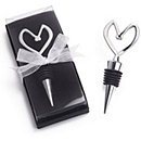 Chrome Bottle Stopper with Heart Top