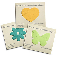 Plantable Favor Cards