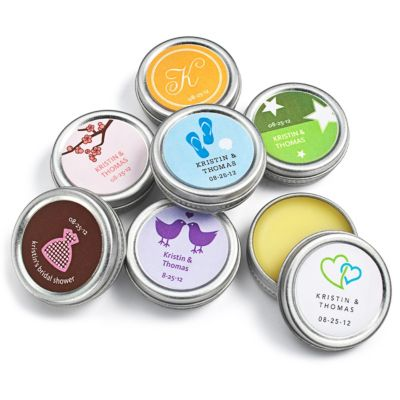 Personalized Lip Balm Tin Favors
