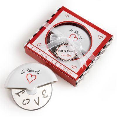 """""""A Slice of Love"""" Pizza Cutter Favor"""