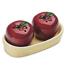 """Apple of My Eye"" Salt & Pepper Shakers Favor"
