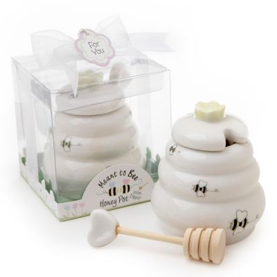 """Meant to Bee"" Honey Pot Favor"