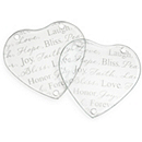 Good Wishes Heart Glass Coaster Set
