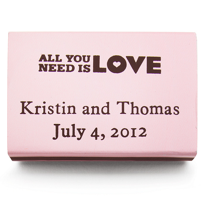 Personalized Matchboxes - All You Need is LOVE