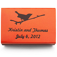 Personalized Matchboxes - Bird on Branch