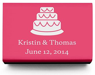 Personalized Matchboxes - Cake