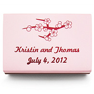 Personalized Matchboxes - Cherry Blossom