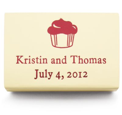 Personalized Matchboxes - Cupcake
