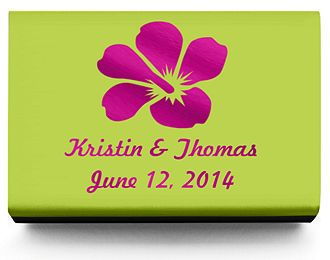 Personalized Matchboxes - Hibiscus