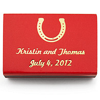 Personalized Matchboxes - Horseshoe