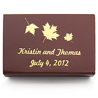 Personalized Matchboxes - Maple Leaves