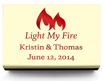 Personalized Matchboxes - Light My Fire