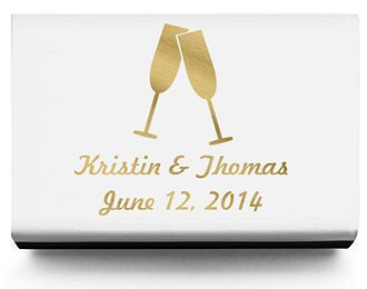 Personalized Matchboxes - Toasting Flutes