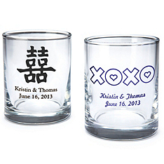 personalized shot glass/votive holder