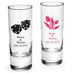 personalized tall shot glass